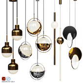 Four Pendant Lights amazing set vol.14
