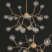 Sputnik Chandelier Ambient Light Painted