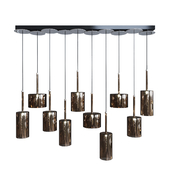 Подвесной светильник AXO Light Spillray SP lamps 10 bronze glass