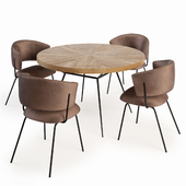 Portello Chair and Frank Table