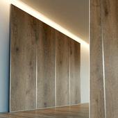 Стеновая панель из дерева. Декоративная стена. 40