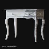 "Dressing table with mosaic inlay ""AMIRA INLAY"" RH"