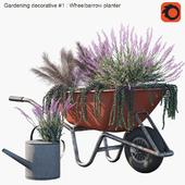 Gardening decorative #1 : Wheelbarrow planter