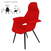 VITRA Organic Highback Chair. 850x785xh1070_vray