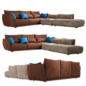 Cierre Clift sectional Sofa seat with backrest  footstool left side