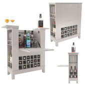 Alcohol Trolly Rack with Bottles (close and open Model)