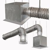 Гофрированная вентиляционная труба с диффузором