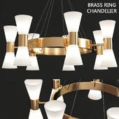 Brass ring chandelier