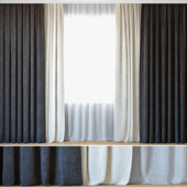 Curtains 11   Curtains with Tulle   Ovington Gray and White