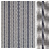 Herringbone Stripe Cotton Rug