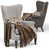 Champlain Wingback Upholstered Armchair