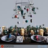 """Table setting """"Dark Christmas"""""""