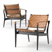 Safavieh Dilan Leather Safari Chair