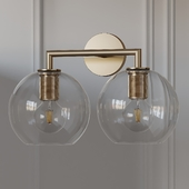 Utilitaire Globe Shade Double Sconce