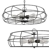 Revel Kira Home Gage 18 Industrial 5-Light Fan Style Met