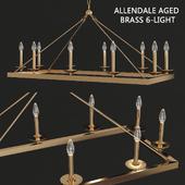 Allendale Aged Brass 6-Light