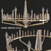 Capital Lighting Fixture Company Adira Winter Gold Six-Light Chandelier