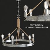 Gray golden lighting chandeliers