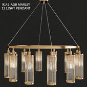 Hudson Valley 9142-AGB Marley 12 Light Pendant
