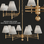 Hudson Valley MDS106-AGB Classic Aged Brass Chandelier Lamp
