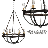 Lodge 6-light Wide Steel Chandelier