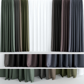 A series of dark curtains