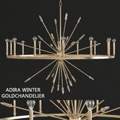 Capital Lighting 428201WG Adira Winter Gold Lighting Chandelier
