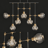 Zeev Lighting Pierre Polished Brass And Matte Black