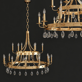 Krista 24-Light Indoor Antique Gold Chandelier
