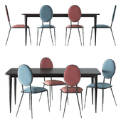 LIPSTICK dining table and NOVANI chairs by La Redoute Interieurs