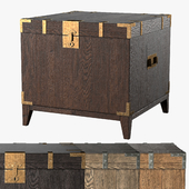 CAYDEN CAMPAIGN TRUNK SIDE TABLE