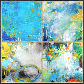 Paintings abstract | set 449