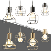 Loft pendant collection Gold and black