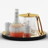 Series B Decanter & Bleecker Bar Ice Bucket set