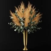 bouquet of pampas grass and olive leaves | Bouquet of pampas grass and olive branches