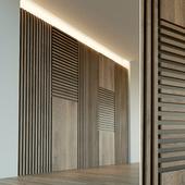 Wall panel made of wood. Decorative wall. 43