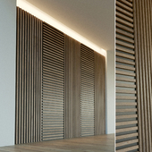 Wall panel made of wood. Decorative wall. 44