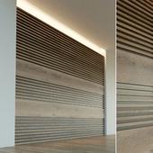 Wall panel made of wood. Decorative wall. 45