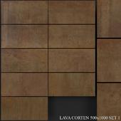 Grespania Coverlam Lava Corten 500x1000 Set 1
