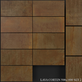 Grespania Coverlam Lava Corten 500x1000 Set 2