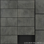 Grespania Coverlam Lava Iron 500x1000 Set 2