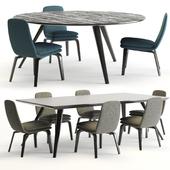 Minotti evans table