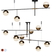 Lampatron Technum Chandelier set.v1  3 and 9 shades
