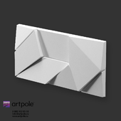 OM Gypsum 3D panel Elementary ORIGAMI by Artpole