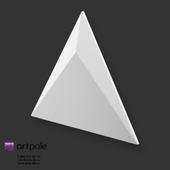 OM Gypsum 3D Panel Elementary SIRIUS by Artpole