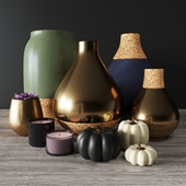 Bloomingville teardrop vases decor set