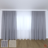 The curtain is modern