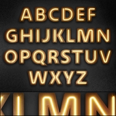 Light modules. Set 09. Neon Alphabet