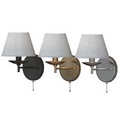 Wall lamp Hotel 60060/1 black / antique bronze / chrome