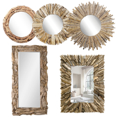 Firewood mirror wood
